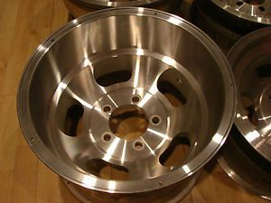 "15x10 Vintage Slot Mag Rims Wheels 5x5"" Buick Pontiac Oldmobile Chevy Van"