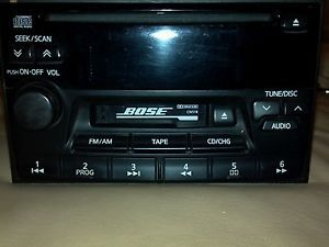 Nissan Car Radio Bose CD Tape Cassette PN 2261D Used Untested for Parts