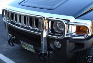 2006 2007 Hummer H3 Full Polished Stainless Brush Grill Guard
