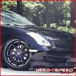 "20"" Honda Accord Sedan Rohana RC10 Concave Black Staggered Wheels Rims"