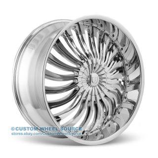 "20"" Borghini B24 Chrome Wheel Tire Package for Mazda Mitsubishi Nissan Volvo"