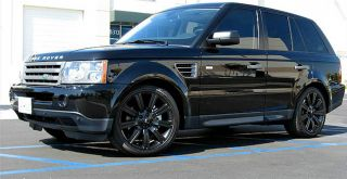 Perfect Gloss Black Range Rover Stormer 22 inch Factory Style Wheels Tires Land