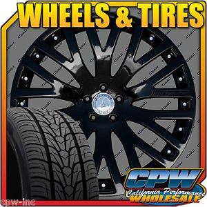 """New Set of 4 22"""" inch Mercedes Benz Wheels Tires Package GL350 GL450 GL550"""