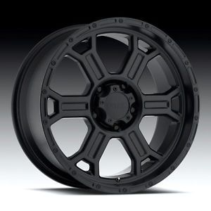 "16"" inch 8x6 5 Matte Black Wheels Rims 8 Lug Dodge RAM Chevy GMC 2500 3500 HD"