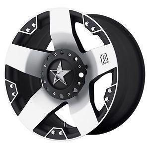 18 inch Black Mach Wheels Rims XD 775 Rockstar Chevy GMC 1500 Trucks 6 Lug 6x5 5