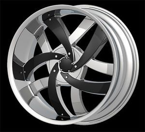 "20"" Velocity V825 Chrome Wheel Rims Tires Fit Toyota Nissan Honda Ford Chevy Kia"