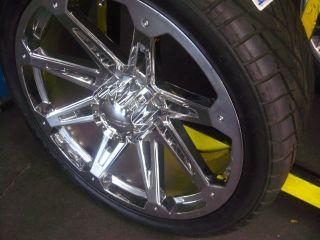 "24"" Wheels Rim Tires Hummer H2 SUT Chrome 22 26"