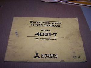 Mitsubishi 4D31 T Diesel Engine Parts Catalog Manual