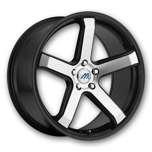 "20"" 2CRAVE Mach M5 Black Mach Wheel Rims Tires Fittoyota Nissan Honda Chevy Kia"