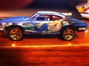 Hot Wheels Olds 443 Anime Blue Oldsmobile Malaysia 5 Dot