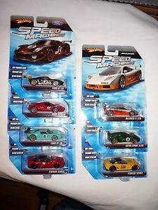 Hot Wheels Speed Machines Lot Ford GT Ferrari Enzo 599XX McLaren GTR Lotus Elise