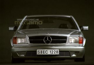 1 18 Autoart Mercedes Benz 500 Sec Coupe 1986 Silver 76212 Free Shipping