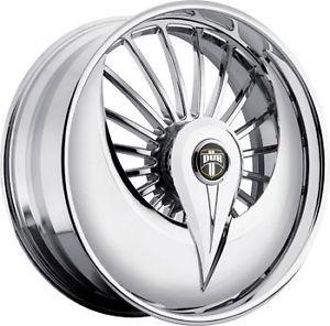 "26"" Dub Skirt Azzmacka Spinner Floaters Chrome Wheels Impala Oldsmobile 300C"