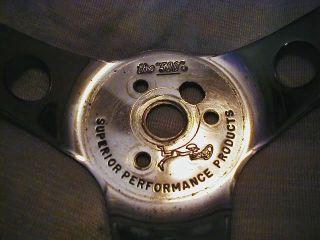 "Vintage Superior Wood Steering Wheel ""The 500"" Universal Fit"