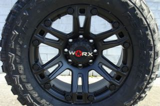 "20"" Worx 803 Beast Wheels Federal Couragia MT Tires 35x12 50R20 35"" Mud Tires"