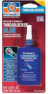 Permatex 24240 Meduim Strength Threadlocker Thread Lock Blue 1 22 Oz