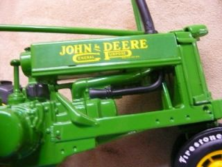 John Deere 1937 Model B 1 16 Scale Toy Tractor Firestone Tires Limited Edition