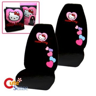 Hello Kitty Car Seat Cover Auto Accessory 2pc Front Seat Covers High Back Love