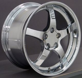 Single 19x10 Chrome C5 Wheel Deep Dish Fits Corvette