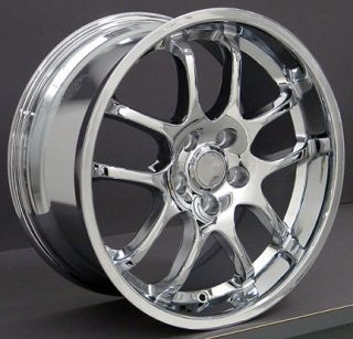 """18"""" 8 9 Chrome Infiniti G35 Coupe Wheels Staggered Rims Fit Infiniti"""