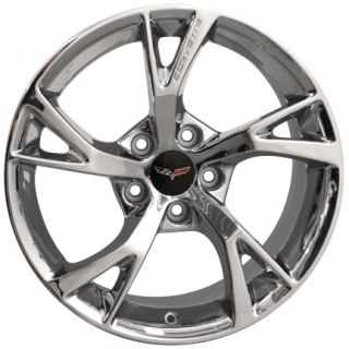"19"" Chrome Corvette Grand Sport C6 Z06 Chevrolet Factory Original Wheel"