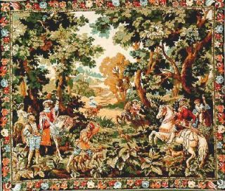 Hunting Tapestry Hawking Scene Horse Rider Horseman