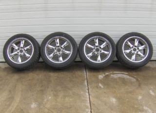 "20 inch 20"" Giovanna Anzio Wheels Tires 295 45 20 Set Used 6x5 5 Chevy"