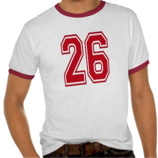 RED AND WHITE #26 TEE SHIRT