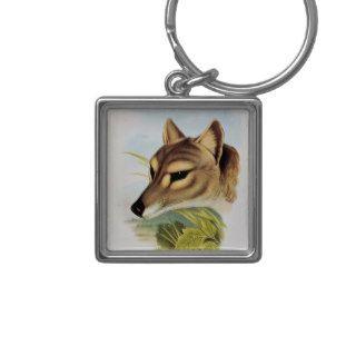 Tasmanian Wolf or Tiger Keychain