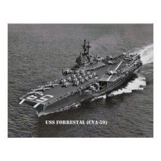 USS FORRESTAL (CVA 59) POSTERS