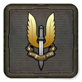 Special Air Service (SAS) Square Stickers