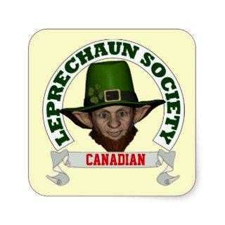 Funny Irish Canadian  leprechaun society Stickers