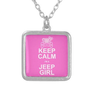 Keep Calm I'm A Jeep Girl   Jeep Wrangler YJ Custom Jewelry