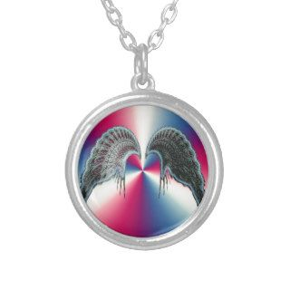 Realistic Angel Wings gifts  fractal art wings Necklaces