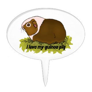 I Love My Guinea Pig Cake Picks