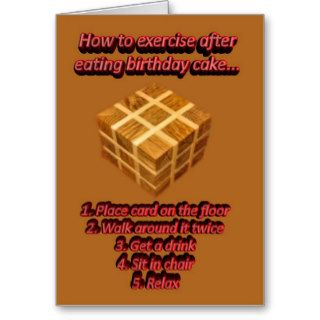 Happy Birthday cake funny humorous Birthday wishes Greeting Card