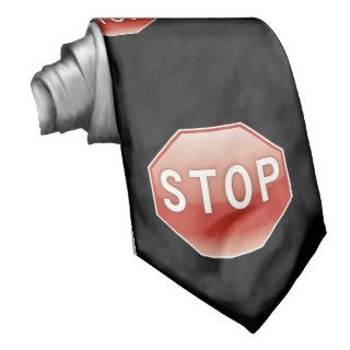 Stop sign pattern tie