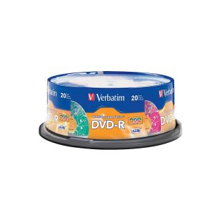 Verbatim Kaleidoscope 97503 DVD Recordable Media DVD R 16x 470 GB 20 Pack Spindle