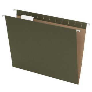 Earthwise Pendaflex 100percent Recycled Hanging File Folders Letter Size Green Pack Of 25