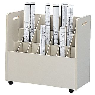 Safco Mobile Roll File 21 Bins 3 34 Tubes
