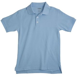 French Toast Children's Short Sleeve Pique Blue Polo Shirt Boys' Shirts