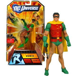 Matte Year 2009 DC Universe Wave 16 Classics Series 6 Inch Tall Action Figure #4   ROBIN with Grappling Hook and Batarang Plus Bane's Head and Lower Torso (V2871): Toys & Games