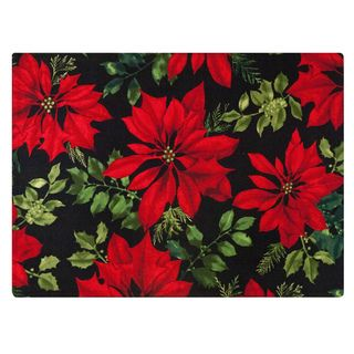 Crimson Placemat by Rose Tree 'Mistletoe and Holly' Placemats (Set of 6) Table Linens
