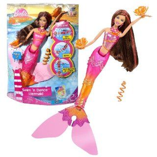 "Mattel Year 2009 Barbie in ""A Mermaid Tale"" DVD Series 12 Inch Doll Set   Swim 'n Dance Mermaid TERESA with Hair Tie, Flower Shaped Water Floaties and Changing Hair Color: Toys & Games"