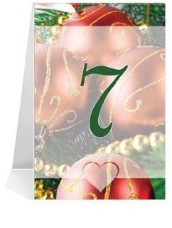 Wedding Table Number Cards   Christmas Ornaments #1 Thru #25: Office Products