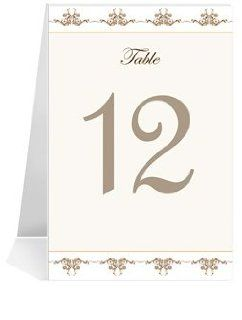 Wedding Table Number Cards   Coco Lace #1 Thru #31: Office Products