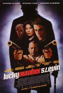 Lucky Number Slevin Movie Poster (27 x 40 Inches   69cm x 102cm) (2006)  (Josh Hartnett)(Bruce Willis)(Stanley Tucci)(Morgan Freeman)(Ben Kingsley)(Lucy Liu)   Prints