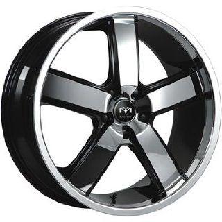 Motiv Magnum 22 Chrome Black Wheel / Rim 5x4.5 with a 15mm Offset and a 83.82 Hub Bore. Partnumber 403CB 2296515 Automotive