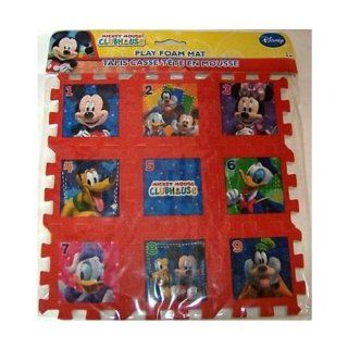 "Disney Mickey Mouse Clubhouse Number Foam Play Mat Puzzle 9"" x 9"" Toys & Games"
