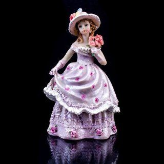 IWedding123 Lavender Quince Anos Quinceanera Figurine Statue Fifteen Party Favor Cake Topper: Kitchen & Dining